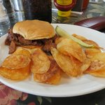 BBQ Beef and homemade chips