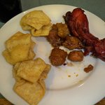 Chicken, crab rangoon