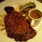 US Rib Eye Steak with Mushroom Sauce