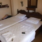 Two twin beds classed as a double room