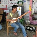 Adam playing very cool guitar