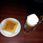 Yummy creme brulee and peppermint patty
