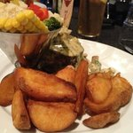 Eye Fillet with veggies and mushroom sauce