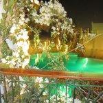 Вид из нашего номера, бассейн подогреваемый в зимний период