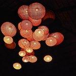 lampadario del ristorante