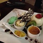 The shared desert option - highly recommended