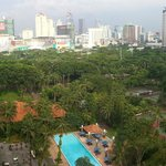 View from my room, 14th Executive Floor, Sultan hotel, Jakarta