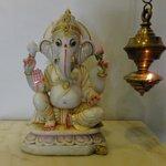 Foyer Ganesh and Ghee Lamp