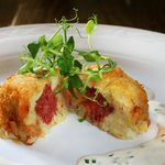 Corn Beef Hash Cakes from Winter Specials Menu