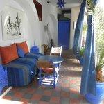 Petit salon bleu à l'étable