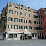 The front of the hotel, overlooking San Giorgio