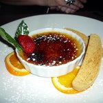 creme brulee and biscotti