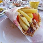 Chicken Gyro...and with the traditional fries