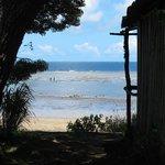 Vue du bungalow Crusoé