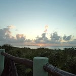 Sunset over the saltwater lagoons of Tulum