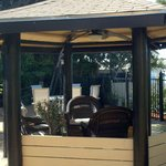 Gazebo, with electrical hookups.