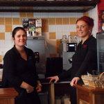 Friendly waitresses at Camo's Restaurant Cahersiveen