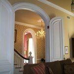 View, from the parlor, of foyer and dining room.