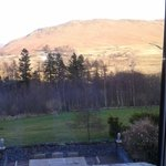View of catbells from the window in the Robinson room