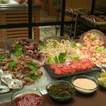 seafood buffet section