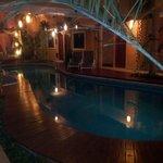 vista della piscina dell'hotel