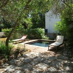 The private garden and plunge pool