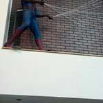 Spiderman in the lobby