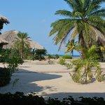 View from our Ocean View cabana veranda