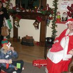 Story telling with Mrs. Claus at Rathwood Santa village