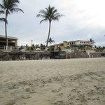View from beach of Samba