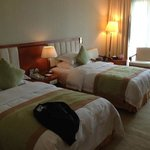 our room, requested a double but cos we booked quite last minute, so only twin was available