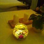 Le candeline sui tavoli