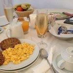 breakfast in the room!