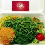 Vegetarian platter (veganized)