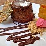 chocolate pepita volcano