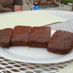 Homemade fig brownies made by Emina! Scrumptious!