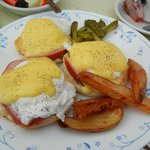 My amazing eggs benedict with homemade hollandaise sauce! SO GOOD