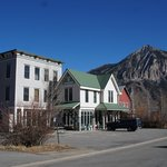 Hostel with Mount Crested Butte in the background