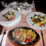 Greek salads, fish bake and fajitas ... most excellent fare
