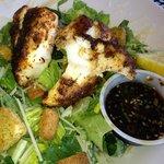 Blackened grouper Caesar salad