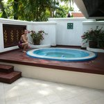 outdoor jacuzzi in our villa