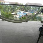 Balcony with hammock