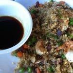 Shrimp, Pork, & Sausage Fried Rice