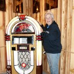 Me(linda Smith) at the jukebox. Really neat old songs to play for free as long as you want.