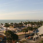 """Beach just across street - view from 5th floor room #50 AKA """" Lovers Suite"""""""