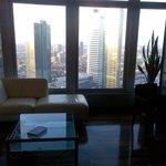 Living room with a few of Frankfurt