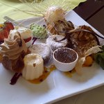 Sampler plate of delicious desserts