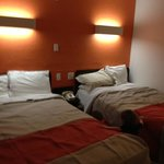 two full size beds, non smoking room