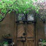 Gate in Wall Surrounding Inner Courtyard and Garden