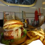Hawaii 5-0 Burger - pineapple, grilled onions